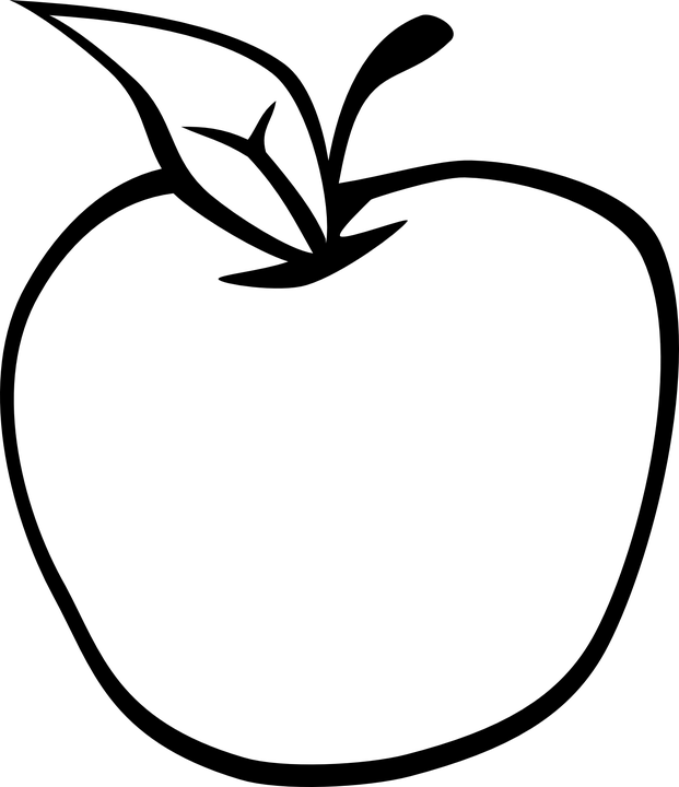 621x720 Apple Leaf Clipart Black White Amp Apple Leaf Clip Art Black