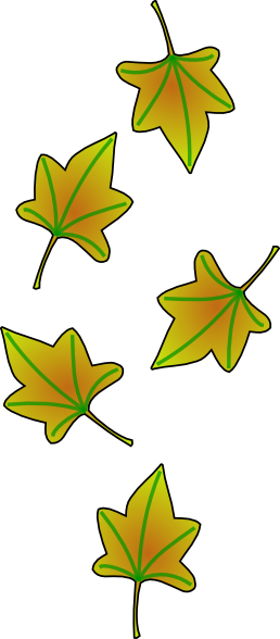 258x588 Leaves Falling Clip Art