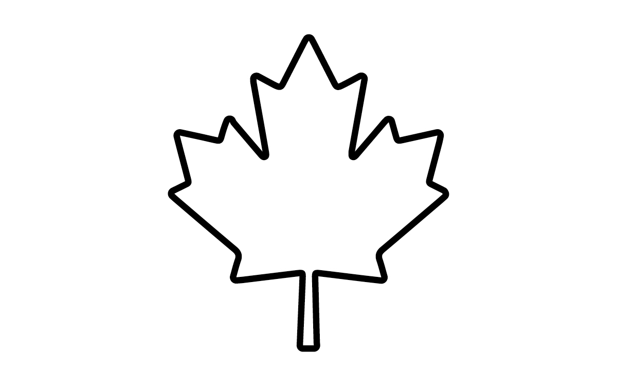 1200x750 Maple Leaf Outline Clipart 3