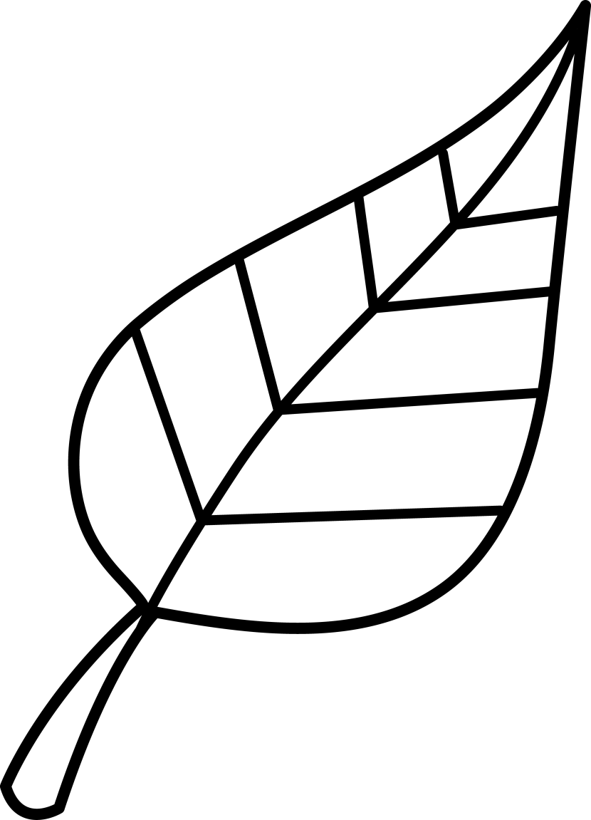 830x1151 Black And White Leaf Clipart