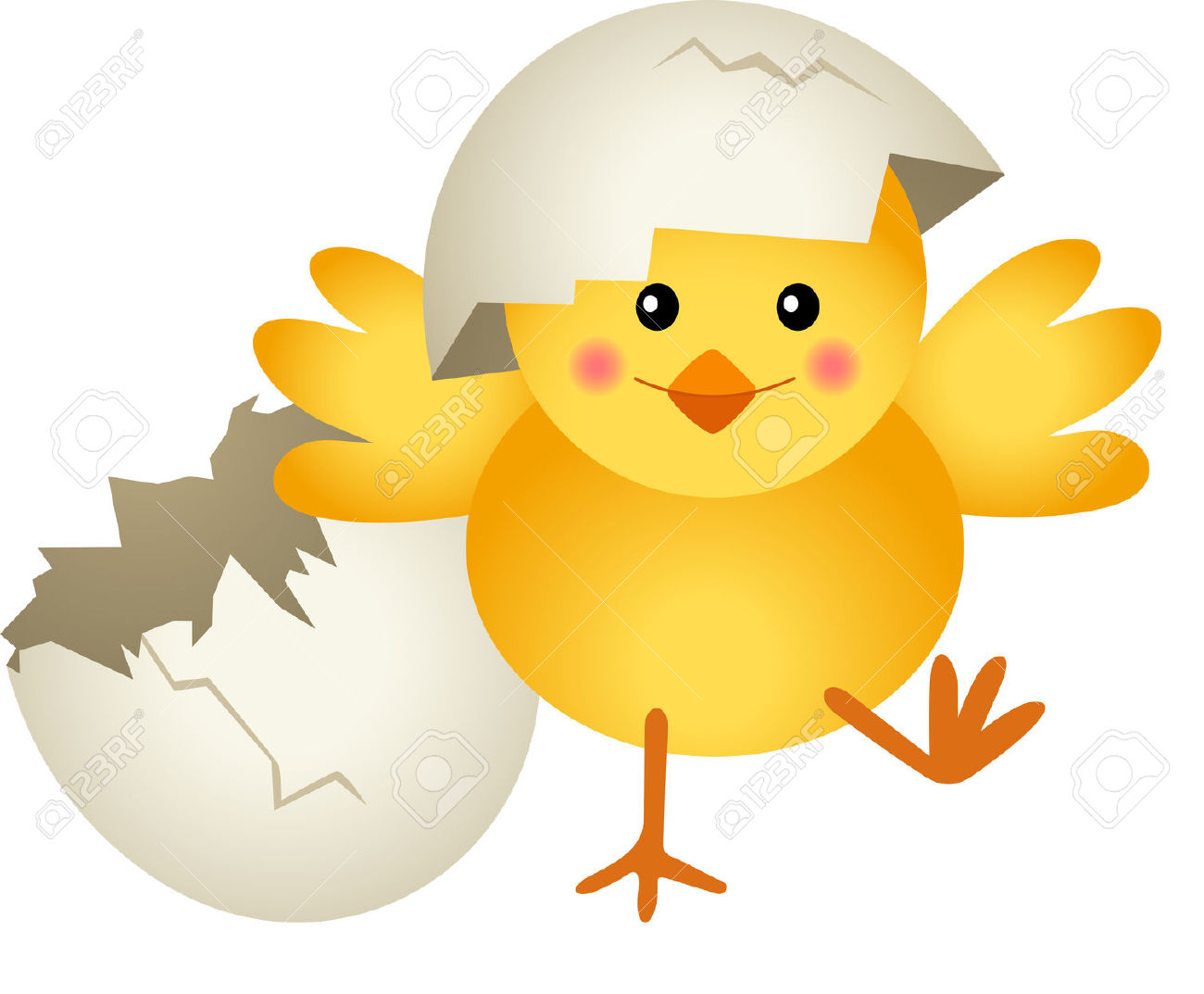 1300x1073 Chicken Leaving Cracked Egg Funny Clipart Image