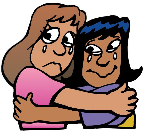 574x535 Hug Goodbye Clipart