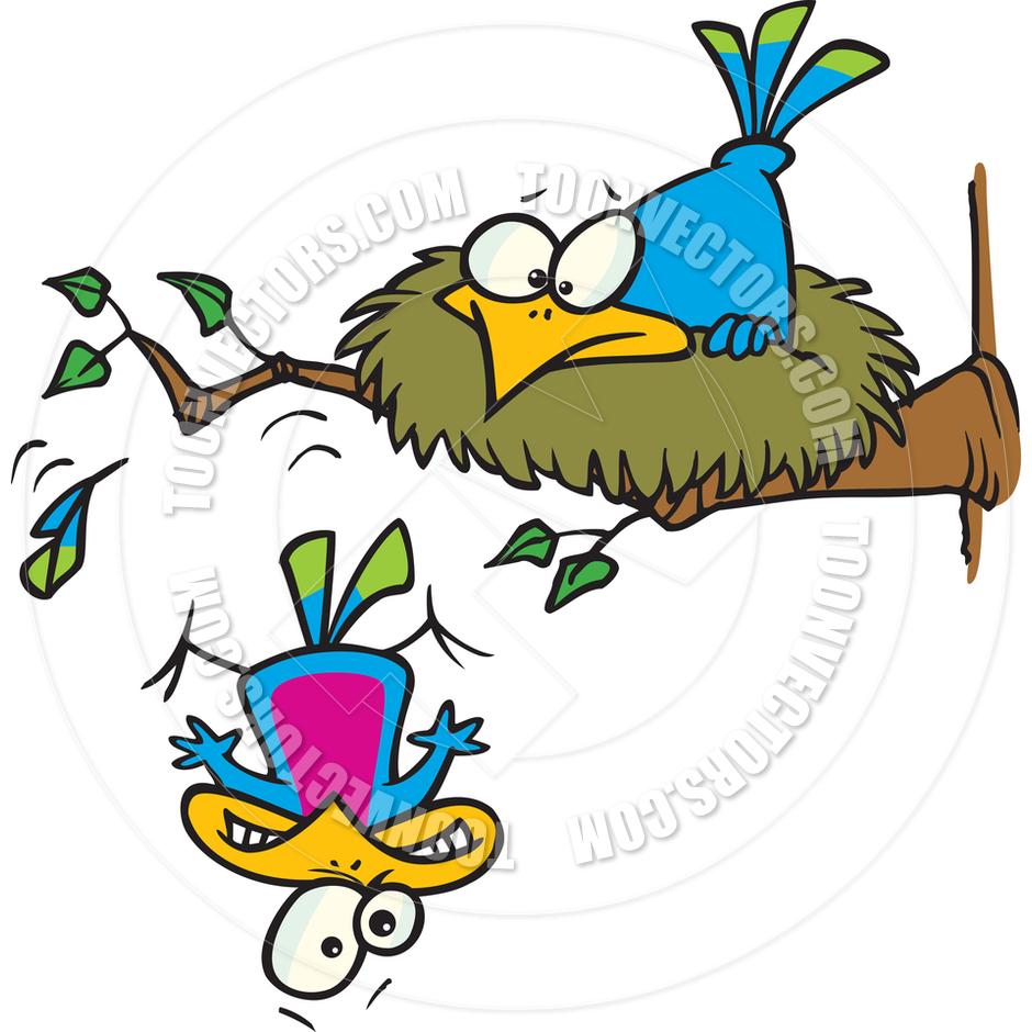 940x940 Cartoon Bird Leaving The Nest By Ron Leishman Toon Vectors Eps