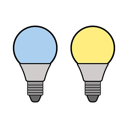 416x416 Led Flat Color Icon Light Energy Saving Premium Clipart