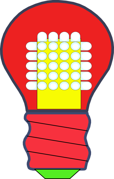 378x594 Led Light Bulb Clip Art