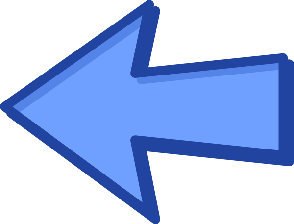 600x457 Blue Arrow Blue Left Clip Art