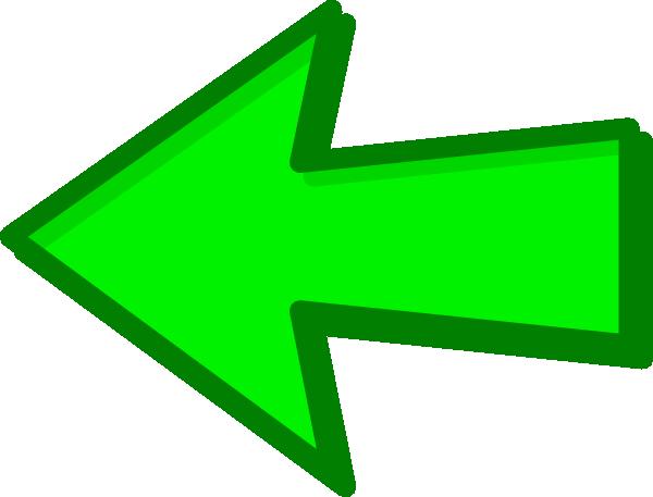 600x457 Green Arrow Green Left Clip Art