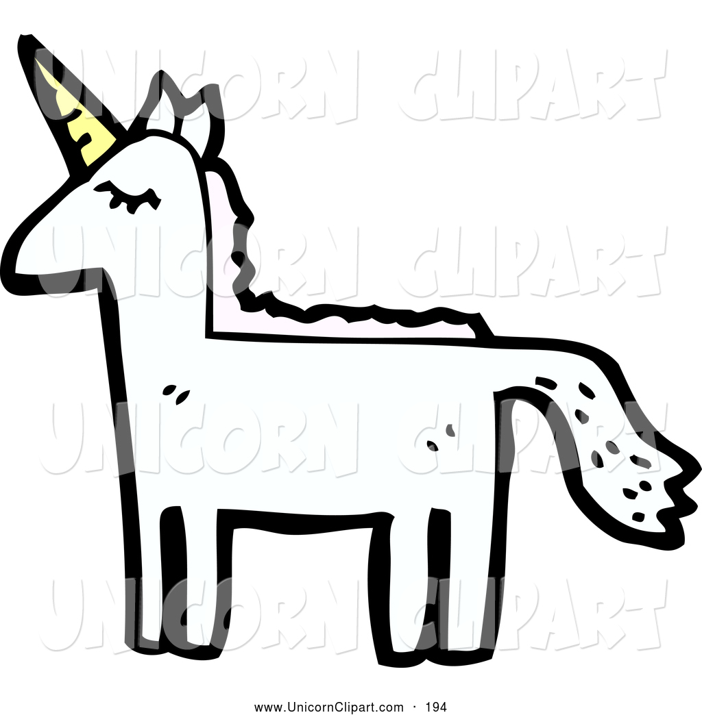 1024x1044 Fantasy Vector Clip Art Of A Majestic Unicorn Looking Left By
