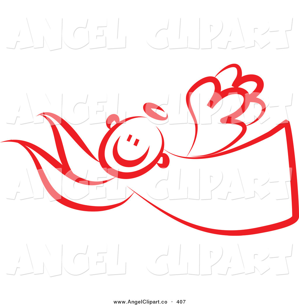 1024x1044 Clip Art Of A Red Angel Flying Left By Prawny