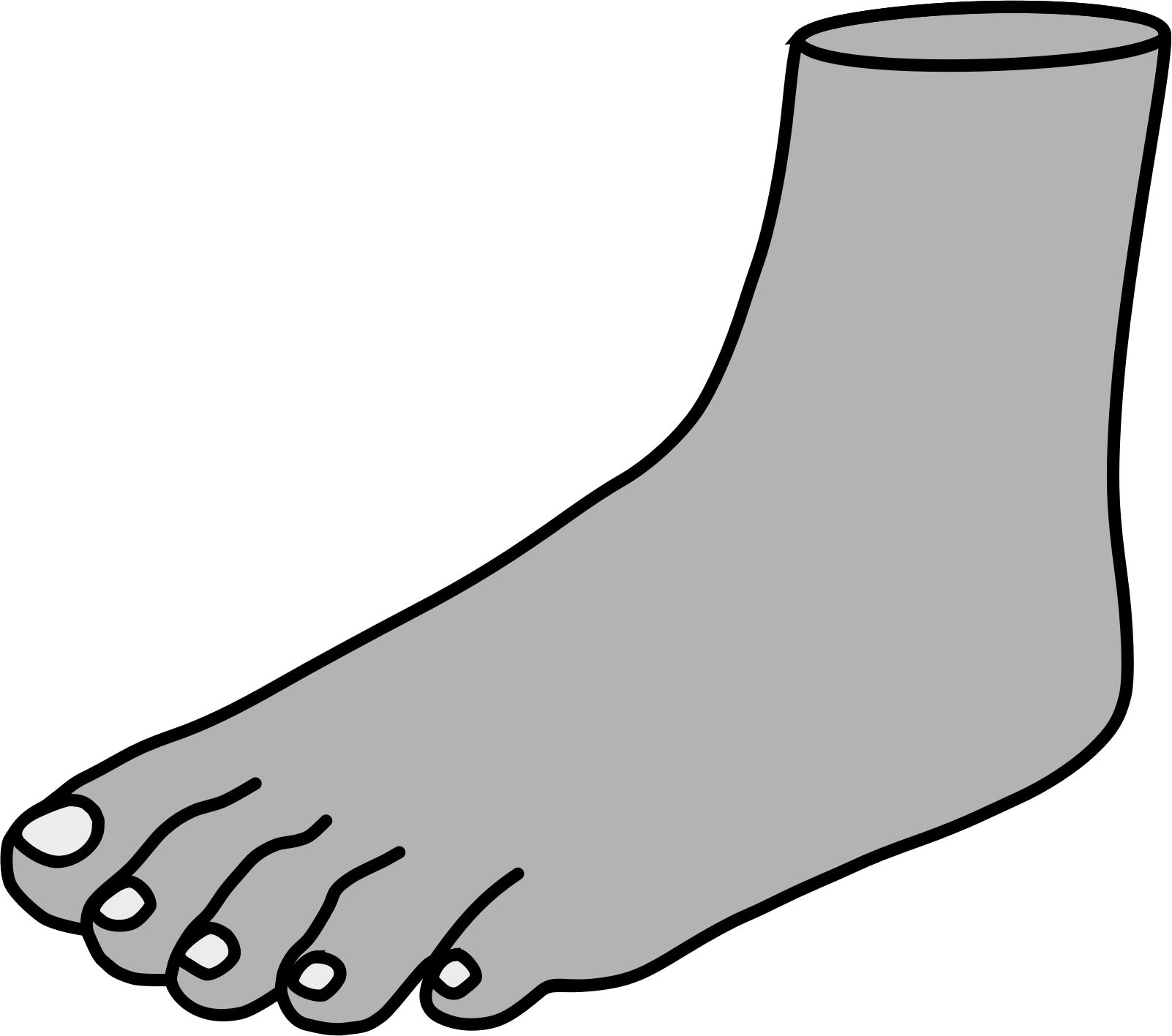 1602x1416 Big Foot Clipart Black And White