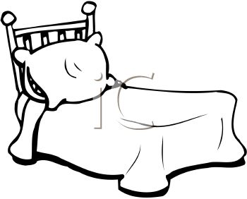 350x282 Black And White Bed With A Pillow Clip Art Clip