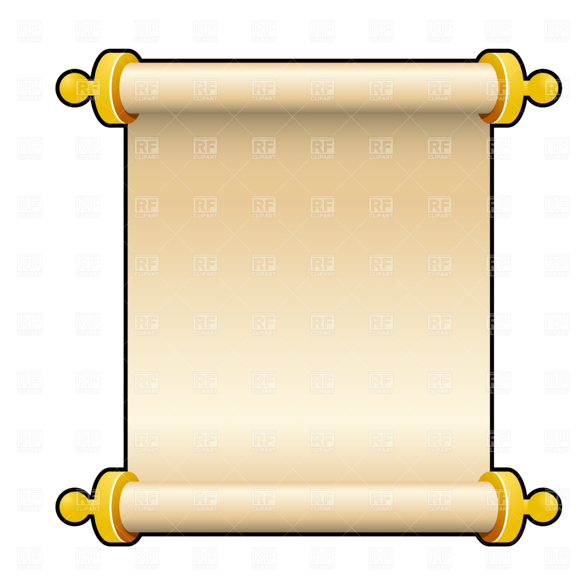 1200x1200 Ancient Parchment Scroll Royalty Free Vector Clip Art Image