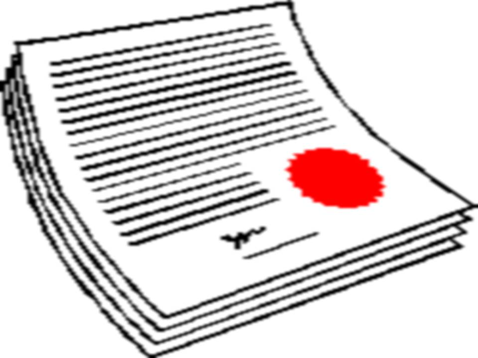 960x720 Clipart Legal Document Collection