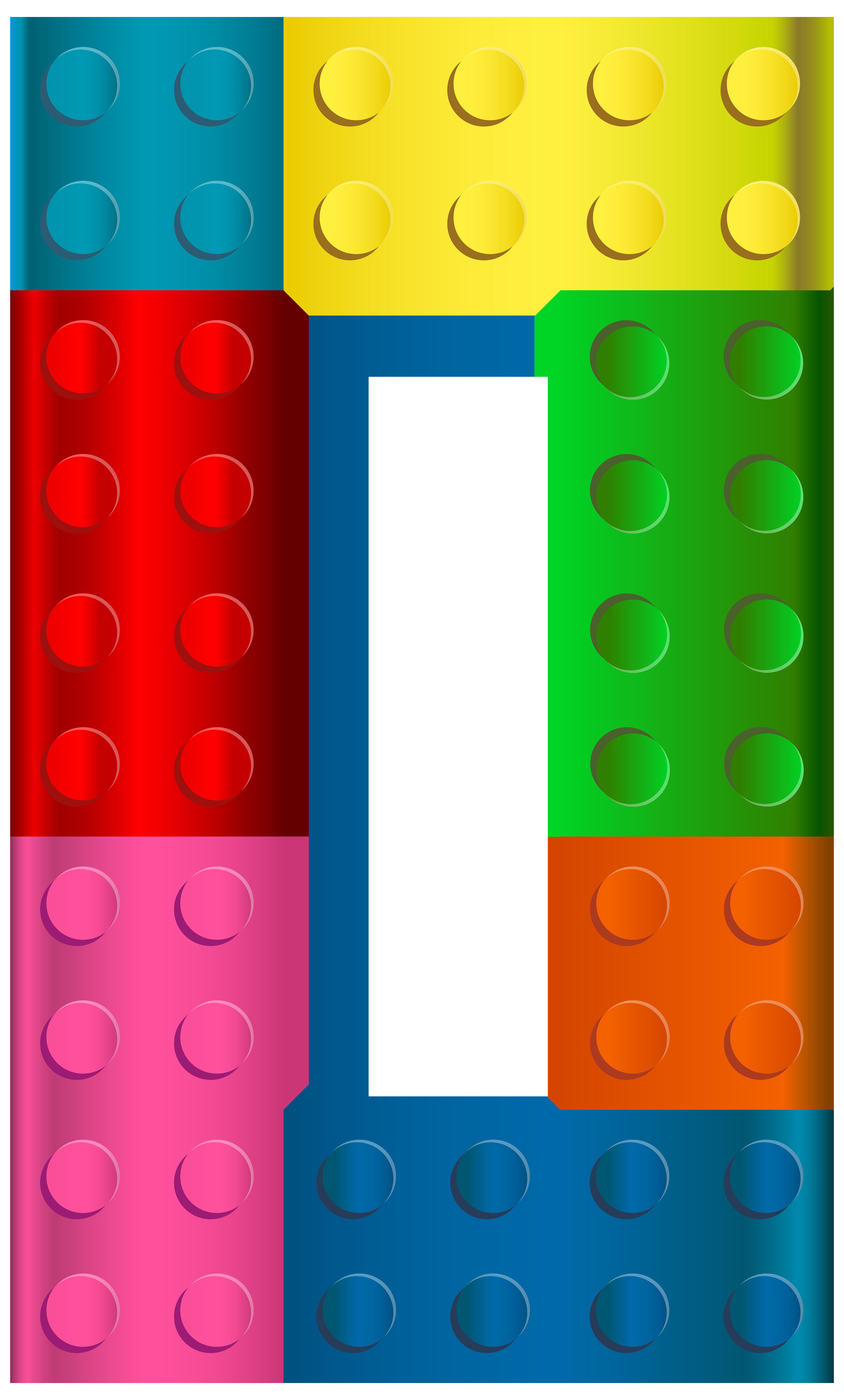 4822x8000 Lego Number Zero Transparent Clip Art Image