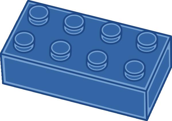 600x423 Blue Lego Block Clip Art