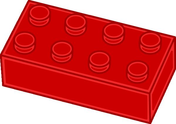 600x423 Red Lego Brick Clip Art