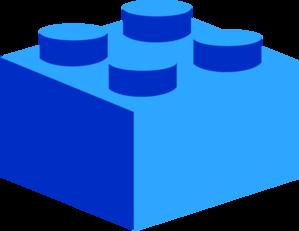 299x231 Blue Lego Clip Art