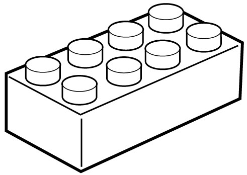 491x348 Lego Clipart Outline