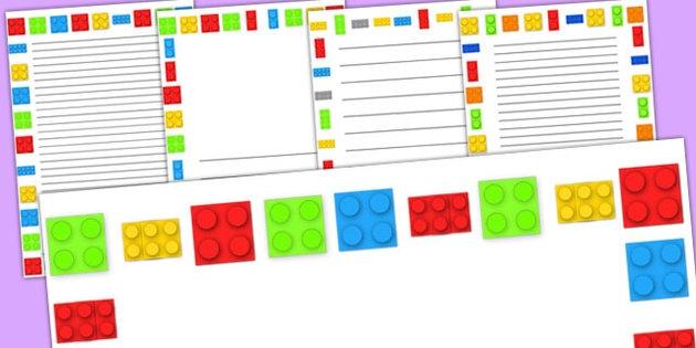630x315 Lego Brick Border Clip Art