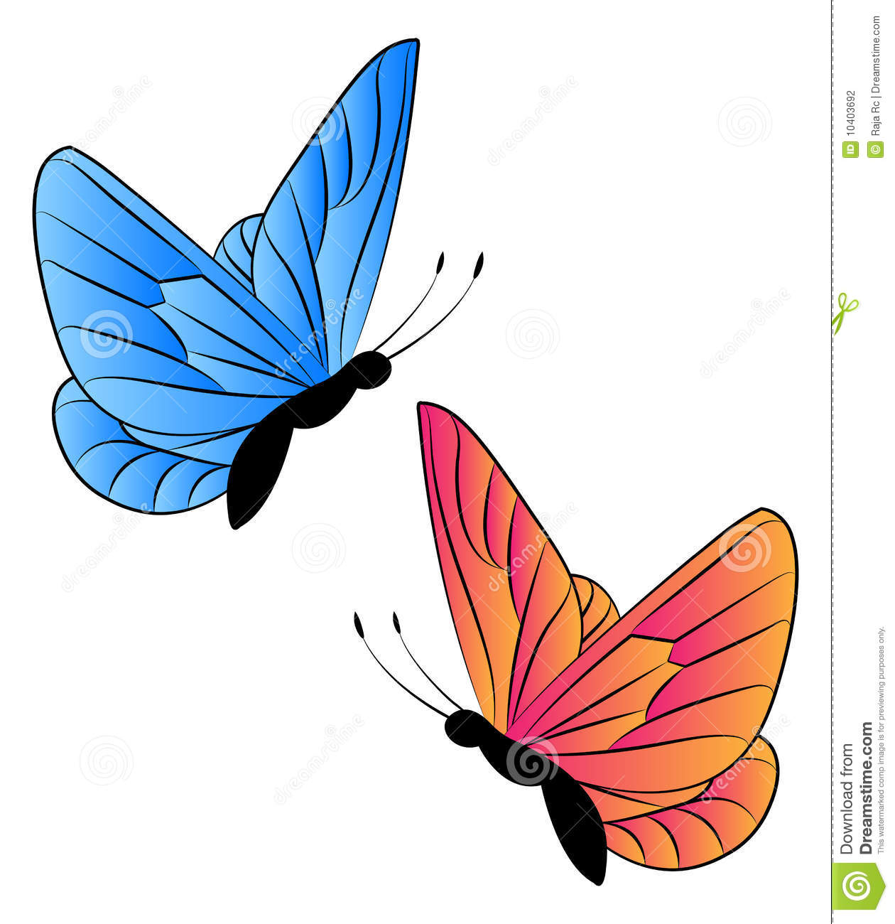 1260x1300 Clipart Images For April Butterflies