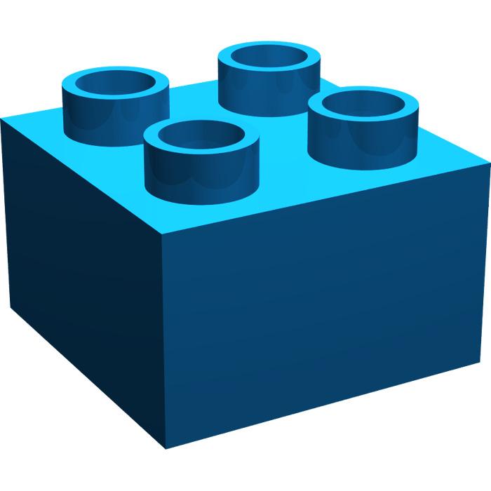 700x700 Lego Blue Duplo Brick 2 X 2 (3437) Brick Owl