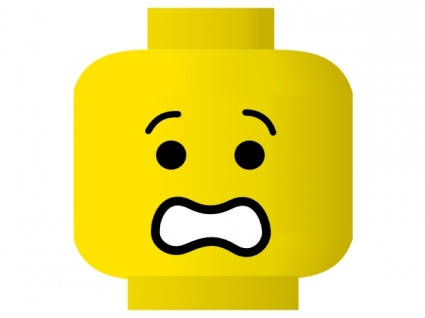 425x318 Lego Smiley Shocked Clip Art Vector, Free Vector Graphics