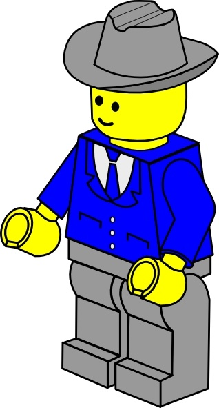 318x591 Lego Town Businessman Clip Art Free Vector In Open Office Drawing