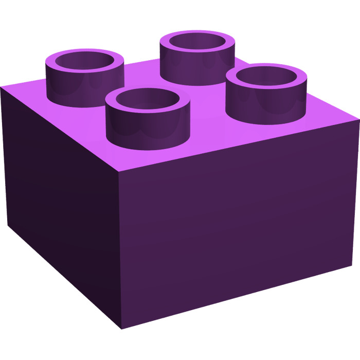 700x700 Lego Purple Duplo Brick 2 X 2 (3437) Brick Owl