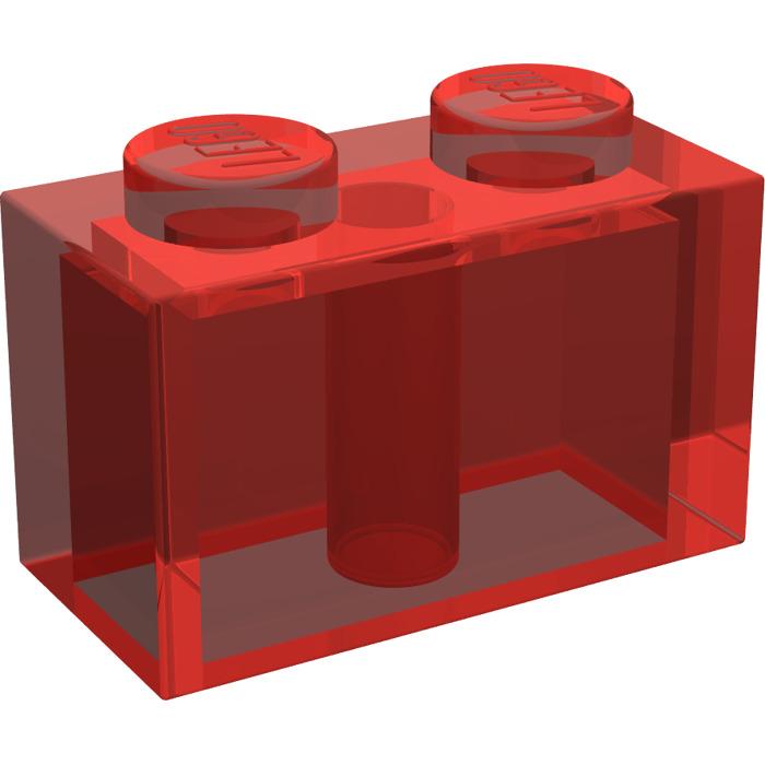 700x700 Lego Transparent Red Brick 1 X 2 (3004) Brick Owl