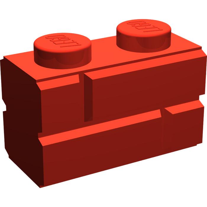 700x700 Lego Brick 1 X 2 With Embossed Bricks (98283) Brick Owl