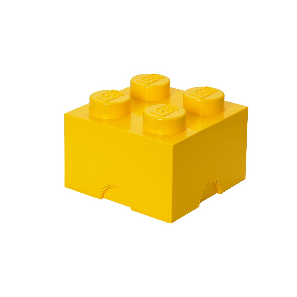 1200x1200 Lego Brick 4 Knobs Stackable Storage Box, Yellow, 5.7 Litre