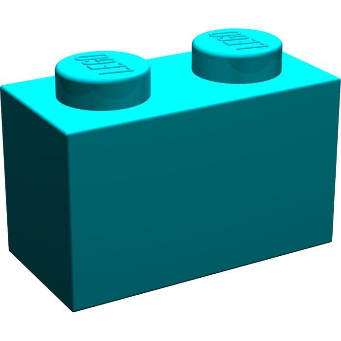 700x700 Lego Dark Turquoise Brick 1 X 2 (3004) Brick Owl