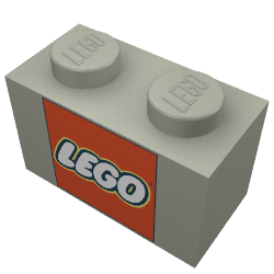 250x250 Lego Part 3004pt6 Brick 1 X 2 With Lego Logo With Closed O Square