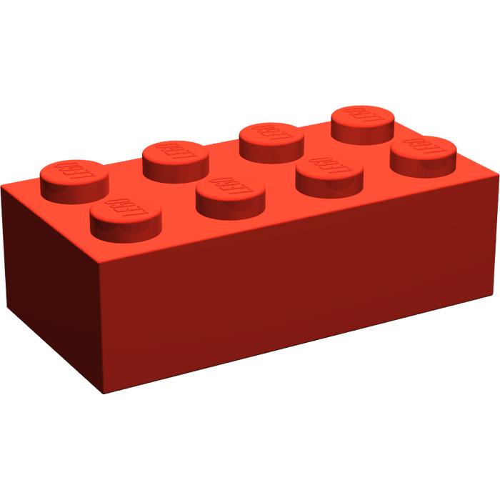 700x700 Lego Red Brick 2 X 4 (3001) Brick Owl