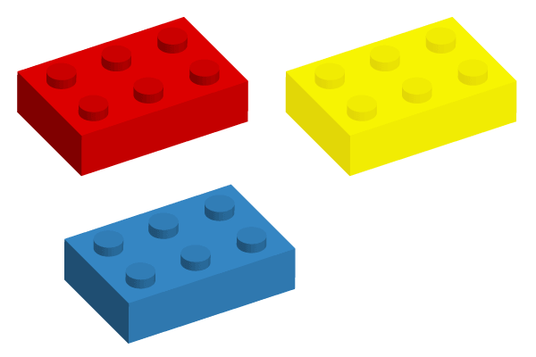 600x400 Lego Brick Vector Art, Vector Files