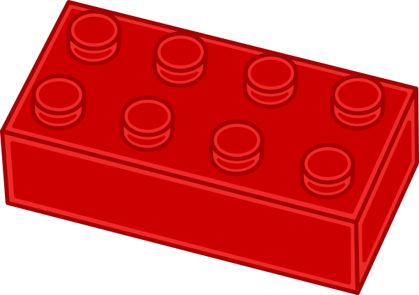 600x423 Red Lego Brick Clip Art