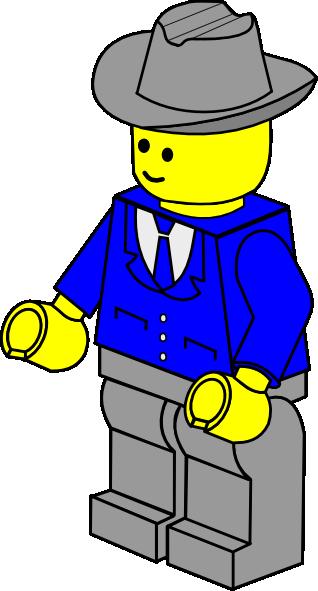 318x591 Lego Town Businessman Clip Art