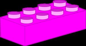 300x162 Hot Pink Lego Brick Clip Art