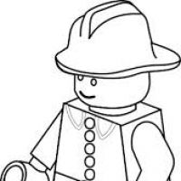 200x200 Lego Clipart Black And White
