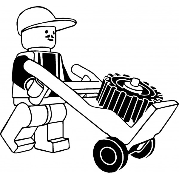 600x600 Lego Clipart Black And White
