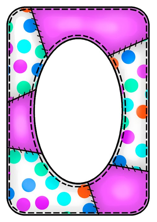 505x715 Polka Dot Frame Border Clipart