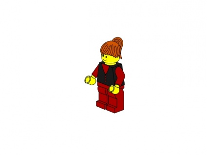 425x318 Lego Robot Clipart