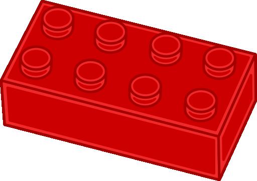 512x361 Red Lego Clip Art