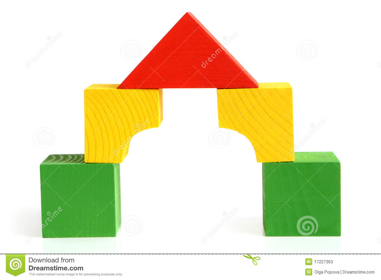 1300x957 Building A House With Wooden Blocks Clipart