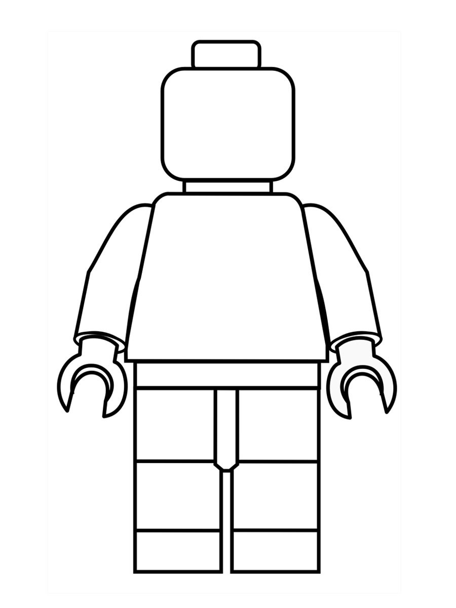 900x1200 Lego Figure Coloring Pages Kids Coloring