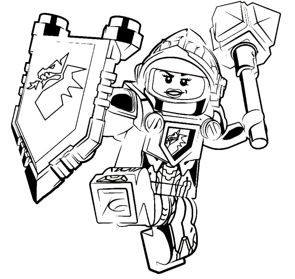 1000x944 Nexo Knights Coloring Pages