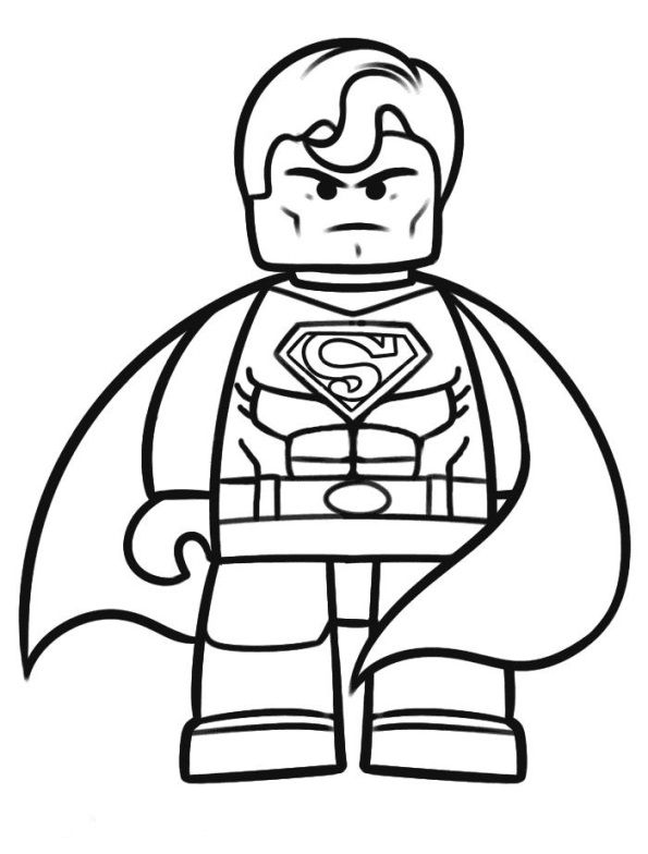 595x784 Remarkable Lego Superman Coloring Pages 98 For Free Colouring
