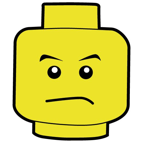 500x500 Lego Mad Head Clipart Png