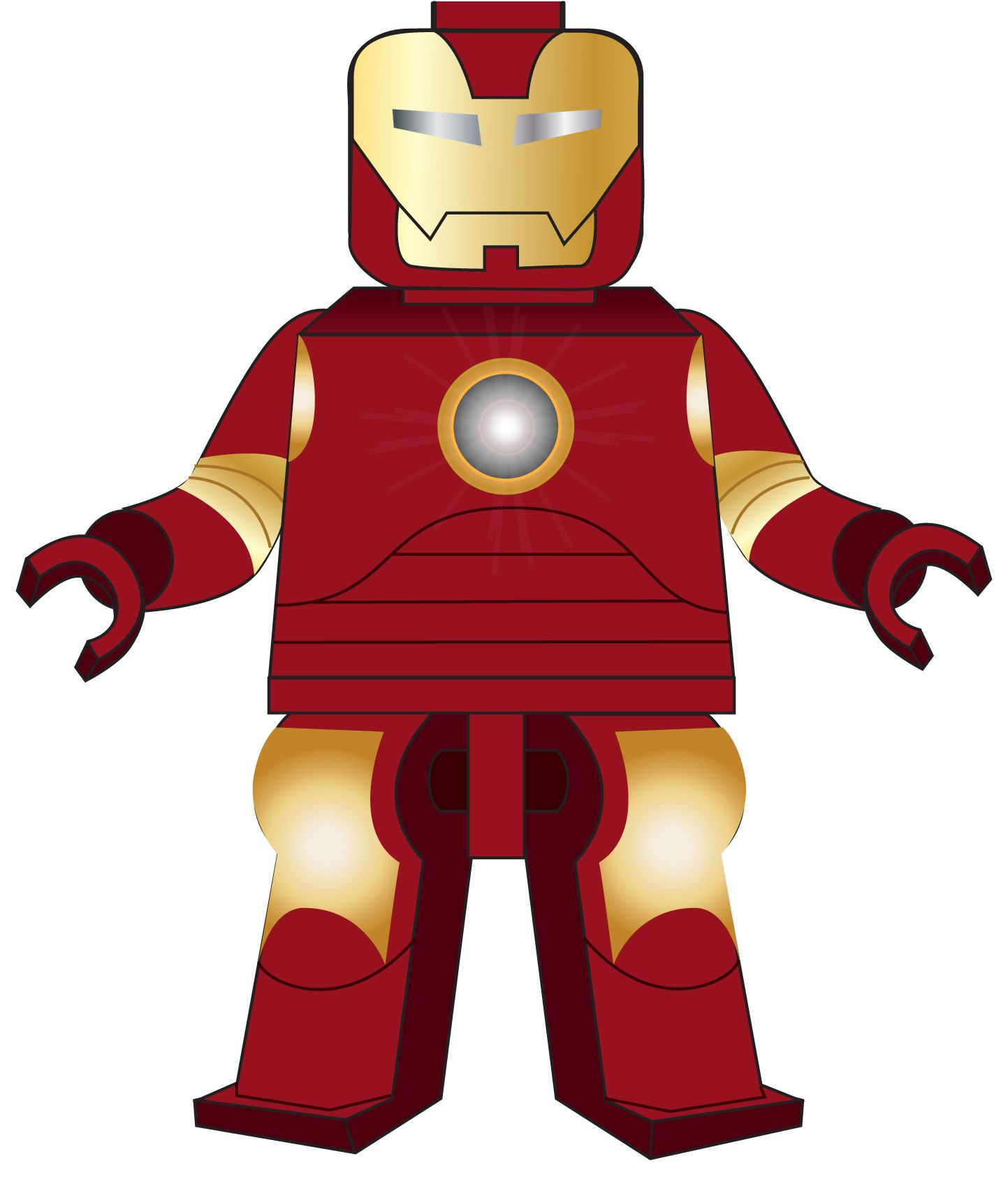 1443x1685 Vector Design Iron Man (Lego). Naija Jones My Work
