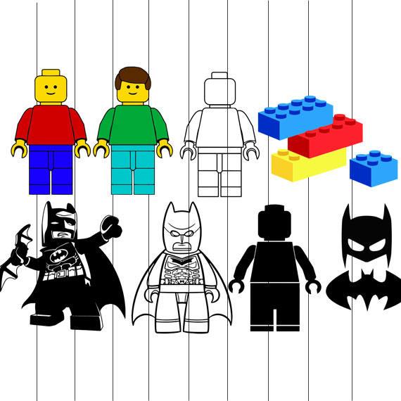 570x570 Lego Movie Batman Superman Heroes Police Svg Cut File
